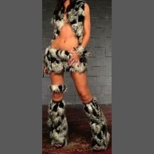 Furry Rave Halloween Costume Outfit